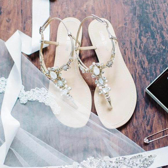 e01c2e54432f Bella Belle Shoes - Bella Belle Luna Crystal Jewel Gold Dress Sandals